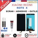 ECRAN LCD VITRE TACTILE POUR XIAOMI REDMI NOTE 4 - NOIR / BLANC + COLLE + OUTILS