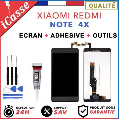 ECRAN LCD VITRE TACTILE POUR XIAOMI REDMI NOTE 4X NOIR / BLANC / OR + COLLE