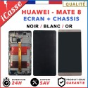 ECRAN LCD + VITRE TACTILE + COMPLETE FRAME POUR HUAWEI MATE 8 NOIR / BLANC OU OR