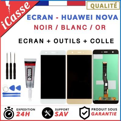 VITRE TACTILE + ECRAN LCD POUR HUAWEI NOVA NOIR / BLANC / OR + ADHESIVE COLLE