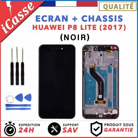 ECRAN HUAWEI P8 LITE 2017 NOIR LCD + VITRE TACTILE SUR CHASSIS ORIGINAL