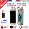 ECRAN HUAWEI P8 LITE 2017 OR / GOLD LCD + VITRE TACTILE SUR CHASSIS ORIGINAL