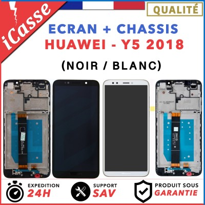 ECRAN LCD + COMPLETE CHASSIS HUAWEI Y5 2018 - NOIR OU BLANC + OUTILS