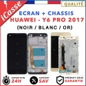 ECRAN LCD + COMPLETE CHASSIS HUAWEI Y6 PRO 2017 - NOIR / BLANC / OR + OUTILS
