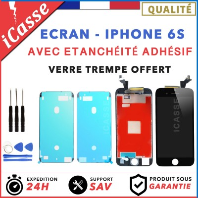 ECRAN LCD IPHONE 6S NOIR / BLANC + Joint Etanchéité Adhésif Waterproof + Outils