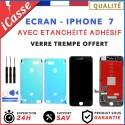 ECRAN LCD IPHONE 7 NOIR / BLANC + Joint Etanchéité Adhésif Waterproof + Outils