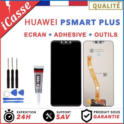 Ecran LCD + Vitre Tactile pour HUAWEI PSMART P SMART PLUS NOIR + OUTILS + COLLE