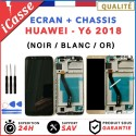 ECRAN COMPLET CHASSIS pour HUAWEI Y6 2018 / Y6 PRIME 2018 NOIR BLANC OR + OUTILS