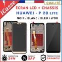 ECRAN LCD HUAWEI P20 LITE AVEC CHÂSSIS NOIR / BLANC / BLEU / OR + OUTILS + COLLE