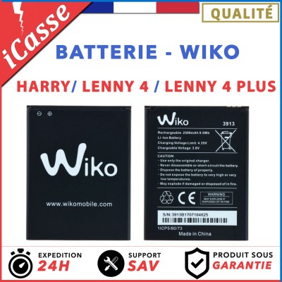 AAA Batterie Wiko 3913 Lenny 4 / Lenny 4 Plus / WIko Harry 2500 mAh