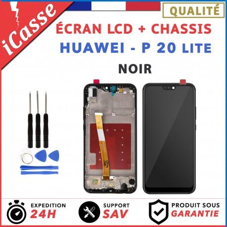 ECRAN LCD HUAWEI P20 LITE COMPLETE AVEC CHÂSSIS NOIR + OUTILS
