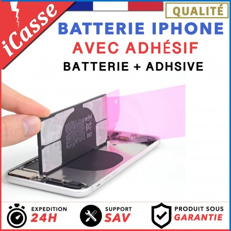BATTERIE IPHONE 4/4S/5/5S/5C/SE/6/6+/6S/6S+/7/7+/8/8+/X/XR/XS/XS MAX + COLLE