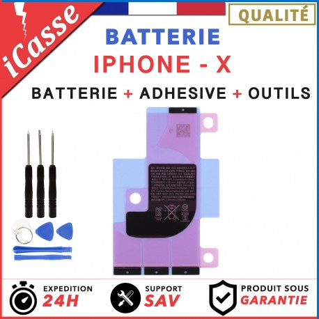 Batterie iPhone X interne 0 cycle Haute Qualité + Adhésif batterie