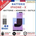 Batterie iPhone X interne 0 cycle Haute Qualité + Adhésif batterie + Outils