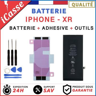 Batterie iPhone XR interne 0 cycle Haute Qualité + Adhésif batterie + Outils