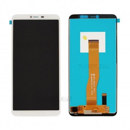 """Ecran LCD Wiko Y80 + Vitre Tactile Noir / Blanc / 5.5"""" + OUTILS + COLLE"""