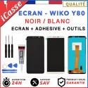Ecran LCD + Vitre Tactile pour Wiko Y80 Noir / Blanc / 5.5 + OUTILS + COLLE