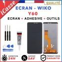 Ecran LCD + Vitre Tactile pour Wiko Y60 Noir + OUTILS + COLLE
