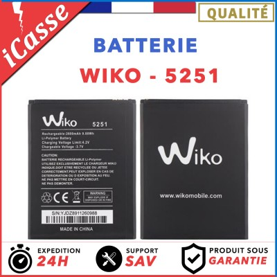 Batterie Wiko 5251 Pulp 4G / Pulp 3G / Robby / Kenny / Rainbow Jam 4G AAA