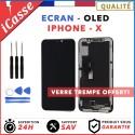 ECRAN OLED POUR IPHONE X/10 RETINA VITRE TACTILE SUR CHASSIS TOUT ASSEMBLE