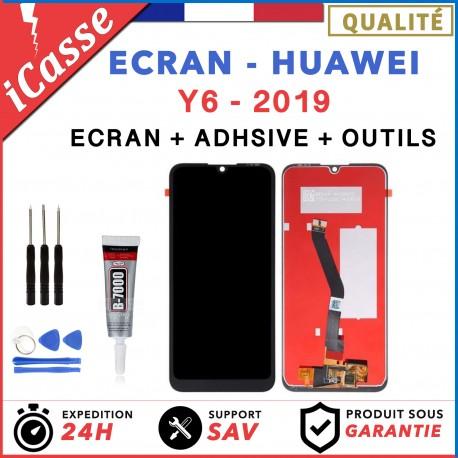 Ecran LCD + Tactile Huawei Y6 2019 / Y6 Pro 2019 Noir MRD-LX1 / MRD-LX1N + COLLE