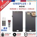 ECRAN LCD + VITRE TACTILE POUR OnePlus 3 A3000 A3003 NOIR + OUTILS + COLLE