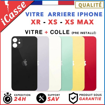 Vitre Arrière iPhone XR / XS / XS Max Verre de haute qualité + Adhésif