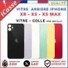 Vitre Arrière iPhone / XR / XS / XS Max Verre de haute qualité + Adhésif