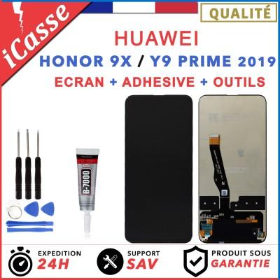 ECRAN LCD + VITRE TACTILE pour HUAWEI HONOR 9X et Y9 PRIME 2019 + COLLE
