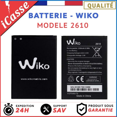BATTERIE WIKO 2610 Pour Wiko TOMMY 3 - 2500 mAh