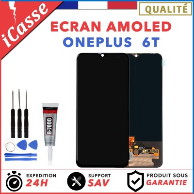 Ecran complet AMOLED + vitre tactile OnePlus 6T A6010 + ADHESIVE + OUTILS