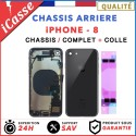 Chassis Complet Coque Arriere iPhone 8 NOIR + COLLE