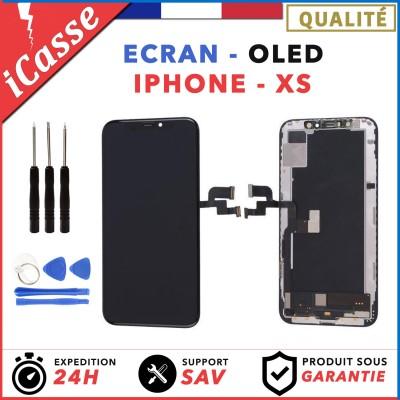 ECRAN OLED POUR IPHONE XS VITRE TACTILE SUR CHASSIS TOUT ASSEMBLE + OUTILS