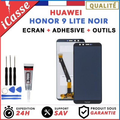 ECRAN LCD HUAWEI HONOR 9 LITE NOIR + COLLE + OUTLS