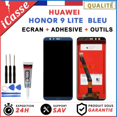 ECRAN LCD HUAWEI HONOR 9 LITE BLEU + COLLE + OUTLS