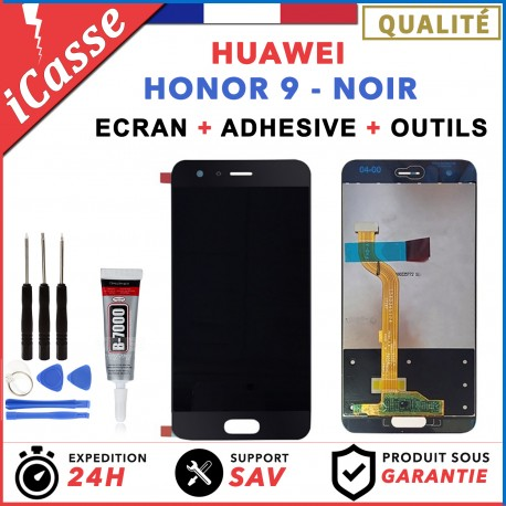ECRAN LCD HUAWEI HONOR 9 NOIR + OUTILS + COLLE