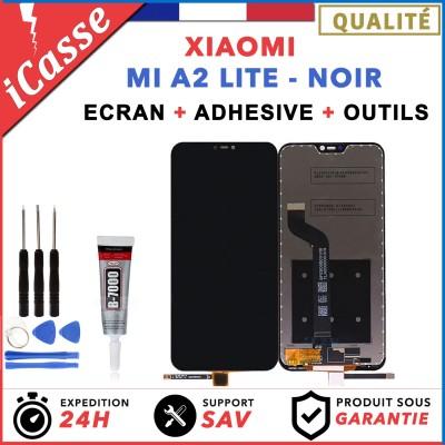 ECRAN LCD + VITRE TACTILE XIAOMI MI A2 LITE NOIR + OUTILS + COLLE
