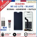 ECRAN LCD + VITRE TACTILE XIAOMI MI A2 LITE BLANC + OUTILS + COLLE