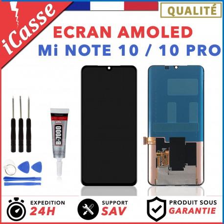 ECRAN OLED XIAOMI MI NOTE 10 / NOTE 10 PRO NOIR + OUTILS + COLLE