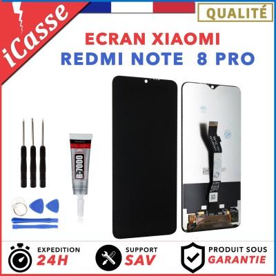 Ecran XIAOMI REDMI NOTE 8 PRO NOIR + Vitre Tactile + Outils + Colle