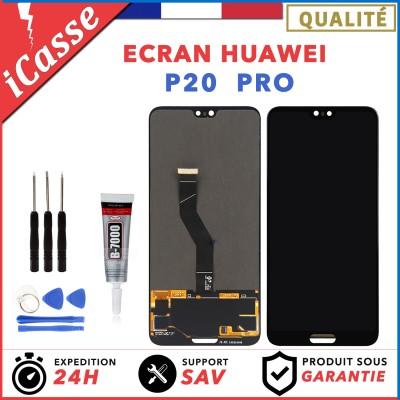 Ecran Huawei P20 Pro CLT-L29 CLT-L09 AL00 Vitre Tactile Outils + COLLE