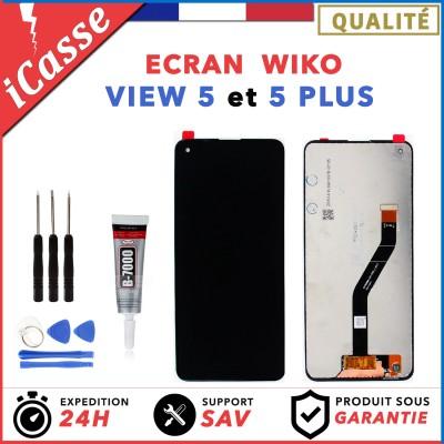 ECRAN LCD + VITRE TACTILE WIKO VIEW 5 / VIEW 5 PLUS + OUTILS + COLLE