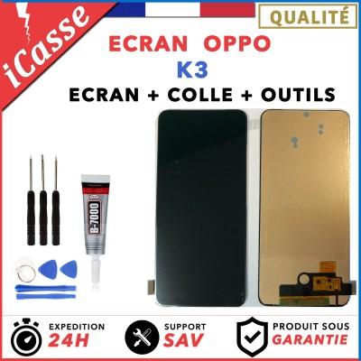 ECRAN Complet pour OPPO K3 + VITRE TACTILE + OUTILS + COLLE