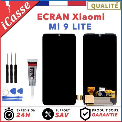 Ecran Xiaomi Mi 9 LITE Pour NOIR / BLANC / BLEU + Vitre Tactile + Outils + Colle