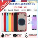 Chassis Arriere - iPhone XR NOIR BLANC Argent ROUGE BLEU JAUNE CORAIL + COLLE