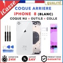 Chassis Arriere pour iPhone 8 BLANC / ARGENT - Chassis Coque nu + COLLE