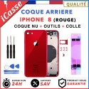 Chassis Arriere pour iPhone 8 Rouge - Chassis Coque nu + COLLE