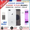 Chassis Arriere pour iPhone 8 PLUS Blanc - Chassis Coque nu + COLLE