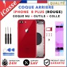 Chassis Arriere pour iPhone 8 PLUS Rouge - Chassis Coque nu + COLLE