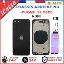 Chassis Arriere pour iPhone SE 2020 NOIR - Chassis Coque nu + COLLE